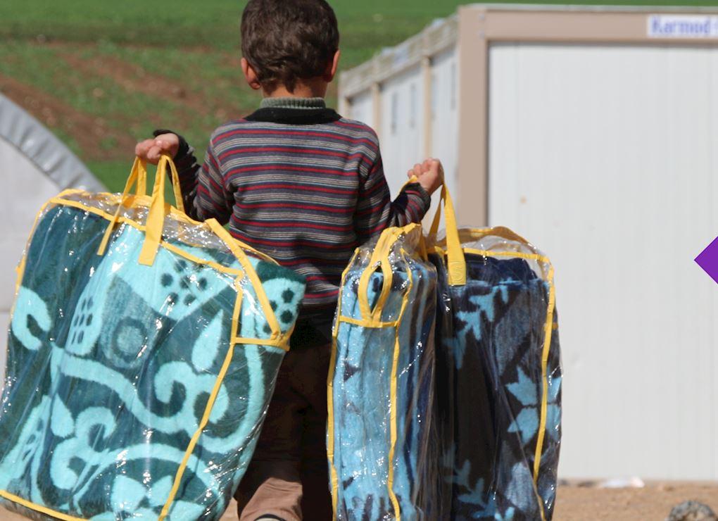 سلة طوارئ للأسر السورية - الشتاء السوري